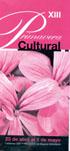 Programa  XIII Primavera Cultural